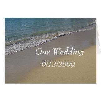 ビーチ結婚式カード カード