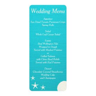 ビーチ結婚式メニューカスタムの招待状の貝 カード