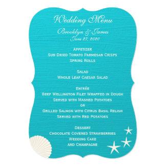ビーチ結婚式メニューカスタムの招待状の貝 12.7 X 17.8 インビテーションカード