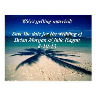 ビーチ結婚式 ポストカード
