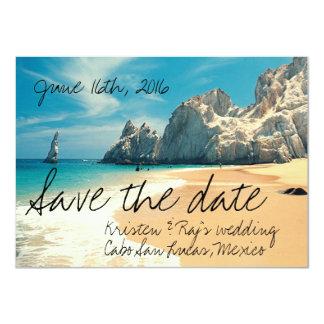 ビーチ結婚式Cabo San Lucas、メキシコの保存日付 カード