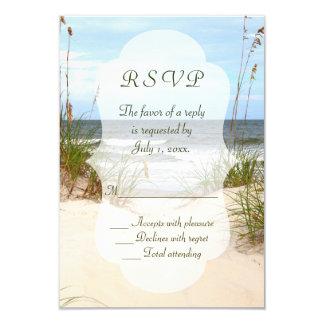ビーチ結婚式RSVP 8.9 X 12.7 インビテーションカード