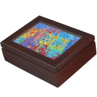 ビーチ色の抽象芸術 ジュエリーボックス