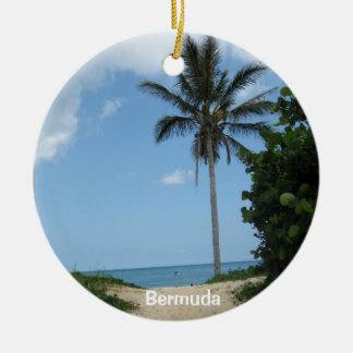 ビーチ道、バミューダ島 セラミックオーナメント