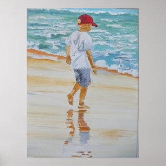 ビーチ2の男の子 ポスター