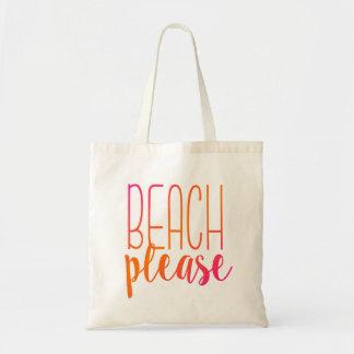 ビーチ|のピンクおよびオレンジトートバック トートバッグ