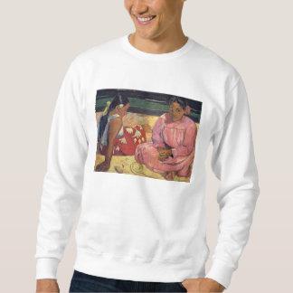 「ビーチ」の- GauguinのスエットシャツのTahitian女性 スウェットシャツ