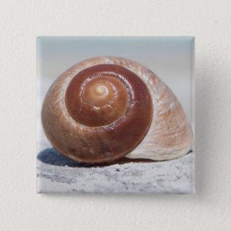 ビーチ|セント・ピーターズバーグ、Flの貝殻 5.1cm 正方形バッジ