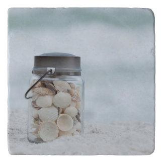 ビーチ フロリダの貝殻の瓶 トリベット