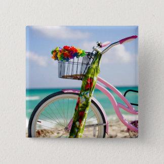 ビーチ|マイアミ、フロリダの自転車 缶バッジ