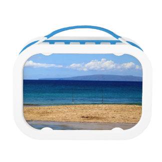 ビーチ、マウイの釣ざおの平和な写真 ランチボックス