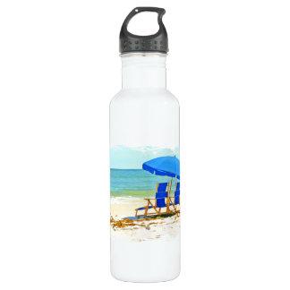 ビーチ、傘、海及び椅子 ウォーターボトル