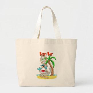 ビーチ、夏、アウトドア ラージトートバッグ