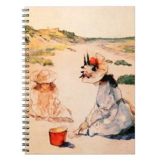 ビーチ。 母の日のファインアートのギフトのノート ノートブック