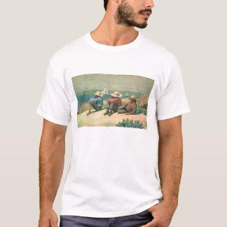 ビーチ、1875年(w/c) tシャツ