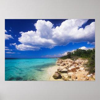 ビーチ、Barahonaのドミニカ共和国、2 ポスター