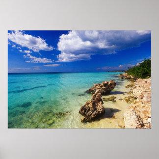 ビーチ、Barahonaのドミニカ共和国、3 ポスター