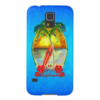 ビーチMele Kalikimaka Galaxy S5 ケース