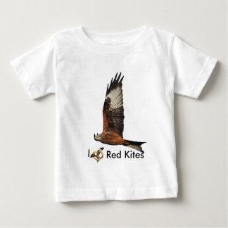 ビートのウェールズの赤凧の上 ベビーTシャツ