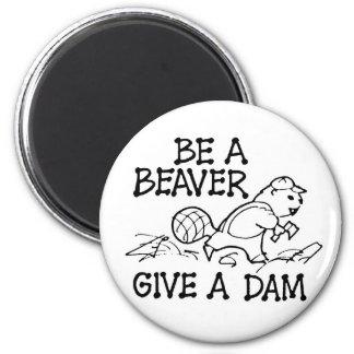 ビーバーが与えますダムの磁石をあって下さい マグネット