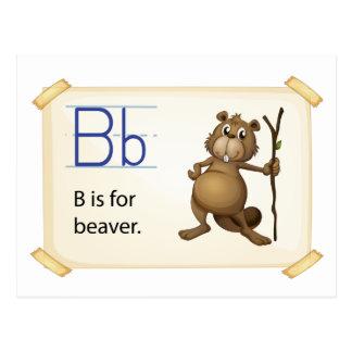 ビーバーのための手紙B ポストカード