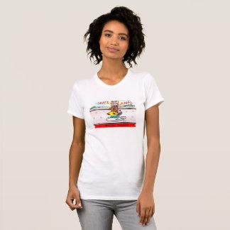 ビーバーのスケートを運河材木で支えて下さい Tシャツ