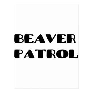ビーバーのパトロール ポストカード