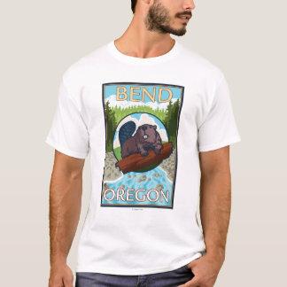 ビーバー及び川-くねり、オレゴン Tシャツ