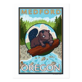 ビーバー及び川- Medford、オレゴン ポストカード