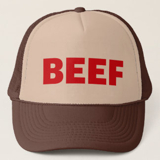 ビーフのおもしろいのスローガンのトラック運転手の帽子 キャップ