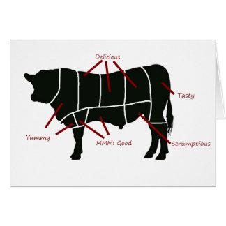 ビーフの肉屋の図表-風味がよくおいしくおいしいビーフ! カード