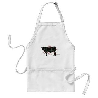 ビーフの肉屋の図表-風味がよくおいしくおいしいビーフ! スタンダードエプロン