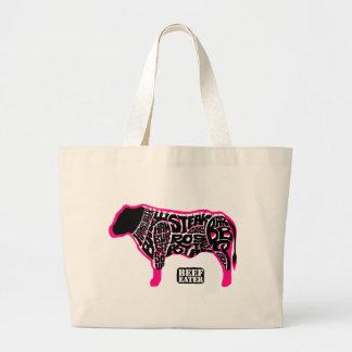 ビーフの食べる人の図表 ラージトートバッグ