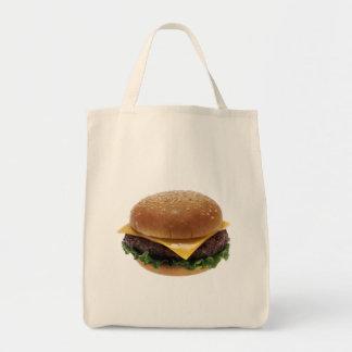 ビーフのPattiサンドイッチ昼食の食糧チーズバーガー トートバッグ