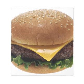 ビーフのPattiサンドイッチ昼食の食糧チーズバーガー ノートパッド
