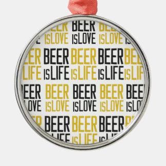 ビールあ愛ビールあ生命パターン メタルオーナメント