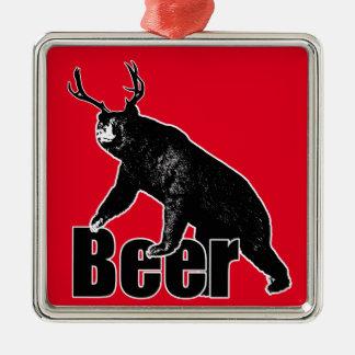 ビールおもしろい メタルオーナメント