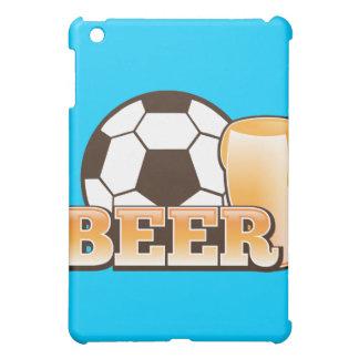 ビールおよびサッカーのフットボール iPad MINI CASE