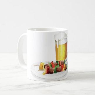 ビールおよびバーベキューのマグ コーヒーマグカップ