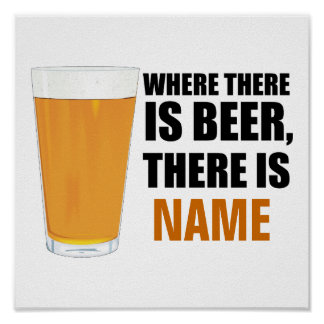 ビールがある一方、一流ポスターがあります ポスター
