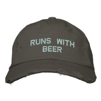 ビールとの操業! パーティーの人のための飲む帽子 刺繍入り野球キャップ