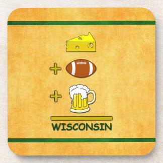 ビールとフットボールとチーズはウィスコンシンに匹敵します コースター