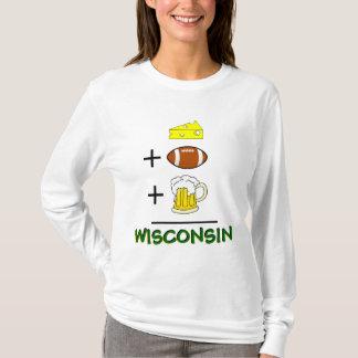 ビールとフットボールとチーズはウィスコンシンに匹敵します Tシャツ