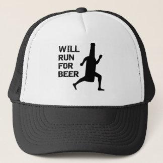 ビールのために走ります キャップ