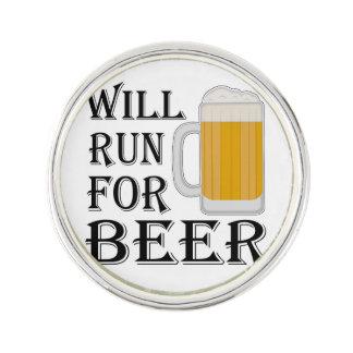 ビールのために走ります ラペルピン