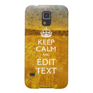 ビールのための平静そしてあなたの文字を保って下さい GALAXY S5 ケース