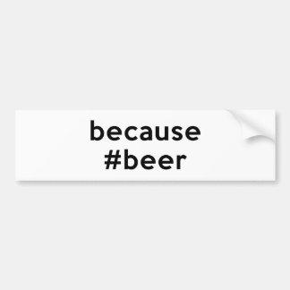 ビールので バンパーステッカー