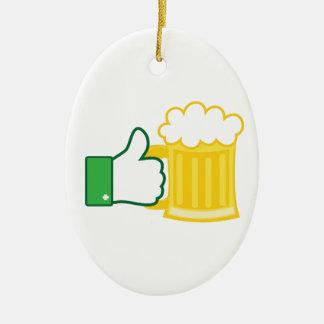 ビールのように セラミックオーナメント