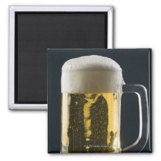ビールのガラスのクローズアップ マグネット