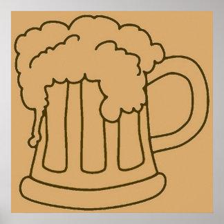 ビールのジョッキかオクトーバーフェスト ポスター